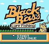 Black Bass: Lure Fishing Game Boy Color Start a new game or continue?