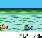 Black Bass: Lure Fishing Game Boy Color The lure's in the water.