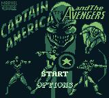 Captain America and the Avengers Game Boy Main menu
