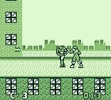 Captain America and the Avengers Game Boy Iron Man is shooting an energy beam.