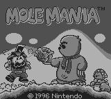 Mole Mania Game Boy Title screen
