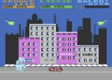 Rampage Atari 8-bit What a cute pink buildings in this city
