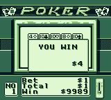 Casino FunPak Game Boy Three of a kind gets me $3.