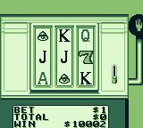Casino FunPak Game Boy Playing a slot machine with letters.