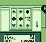 Casino FunPak Game Boy Playing a slot machine with suits.