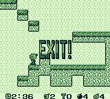Pocket Bomberman Game Boy I have killed all enemies and the exit is open.