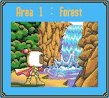 Pocket Bomberman Game Boy Color Area 1 of Forest