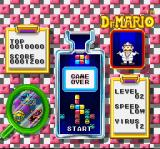 Dr. Mario SNES The pills reached the top of the bottle. Game over.