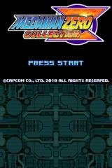 Mega Man Zero Collection Nintendo DS Title screen.