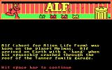 ALF: The First Adventure DOS The game introduction