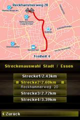 Quiz Taxi Nintendo DS Please select a route.