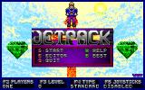 Jetpack DOS Main menu of Jetpack, painted by Wayne C. Timmerman
