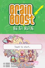 Brain Boost: Beta Wave Nintendo DS Title screen.