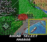 "Shinobi Game Gear With ""Highway"" done, three levels remain (excluding final zone). Here ""Harbor"" is chosen as the next."