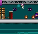 "Shinobi Game Gear Again, using ""Pink""'s technique to escape from the rolling barrels."