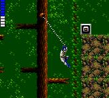 Shinobi Game Gear Blue's has a harpoon, not only as a weapon but hooks on certain pegs.