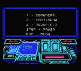 Buggy Ranger MSX Main menu