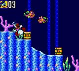 Deep Duck Trouble starring Donald Duck Game Gear Yeah, the nearest fish made something bad.