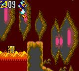 Deep Duck Trouble starring Donald Duck Game Gear Moving platforms on the lava.