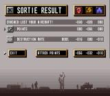 A.S.P.: Air Strike Patrol SNES Sortie result