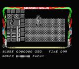 Bad Dudes MSX Right from the beginning, ninjas attack.