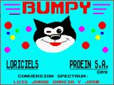 Bumpy ZX Spectrum The game loading screen.