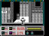 RoboCop ZX Spectrum Robo automatically walk up the alleyway at the end of the level