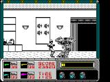 RoboCop ZX Spectrum Ed-209 explodes in a satisfying shower of metal