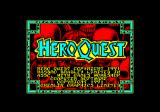HeroQuest Amstrad CPC Loading screen