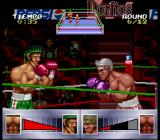 Chavez SNES The portrait of the opponent boxer's face is starting to get greyed out signifying that it's taking damage