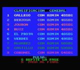 Tour 91 MSX The general standings