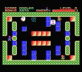 Buster Block MSX These sad-face guys destroy blocks. Be careful as the orange blocks will bounce a little when the hit a wall or other block.