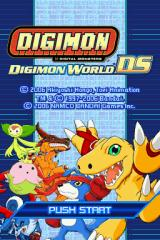 Digimon World DS Nintendo DS Title screen.