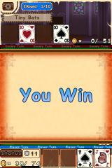 "Sword & Poker II iPhone The enemy's hit-points reach ""0"" - it's a win!"