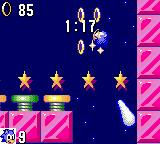 Sonic the Hedgehog Game Gear One of the bonus levels. This one is always falling down.