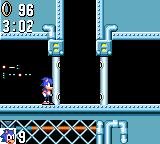 Sonic the Hedgehog Game Gear Some barriers can only be opened from a side.