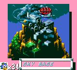 "Sonic the Hedgehog Game Gear Robotnik has a last hideout, his ""Sky Base""."