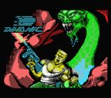 Bestial Warrior MSX Loading screen