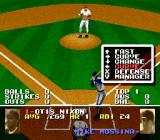 Tecmo Super Baseball SNES Choose a type of pitch to throw.
