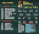 Tecmo Super Baseball SNES Individual player stats