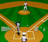 Tecmo Super Baseball SNES A swing and a miss