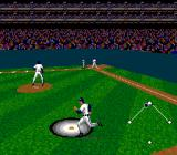 Tecmo Super Baseball SNES Hit a pop up fly ball