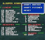 Tecmo Super Baseball SNES Draft players to form the all-star team.