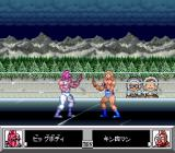 Kinnikuman: Dirty Challenger SNES 2 players wrestling in the cold outdoors