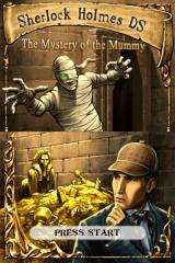 The Mystery of the Mummy Nintendo DS Title screen.