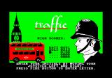 Traffic Amstrad CPC I can enter my initials for the high score.