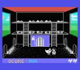 Chicken Chase MSX I failed so she is clobbering me.