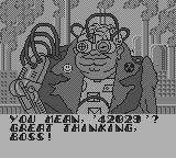 Toxic Crusaders Game Boy The stupid henchman tells the password