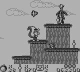 Mr. Nutz Game Boy The scarecrow throws heads at us