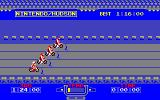 Excitebike PC-88 Mode B includes other racers to get in the way.